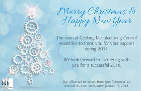 Merry Christmas Office Hours Geelong Manufacturing Council
