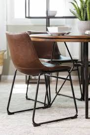 bucket seat side chair in brown