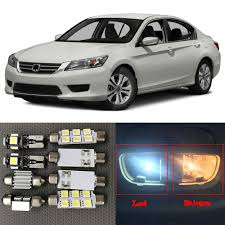 2015 Honda Accord Light Bulb Size Us 10 58 11 Off 10pcs Xenon White Led Light Bulbs Interior Package Kit For 2013 2014 2015 Honda Accord 12v Auto Map Dome License Plate Lamp In