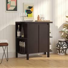 Wine Bar Storage Cabinet Latitude Run Oliver Bar Cabinet With Wine Storage Reviews Wayfair