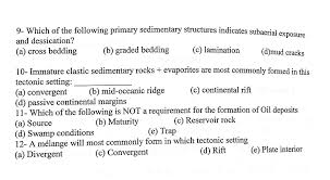 sedimentary structures indicates