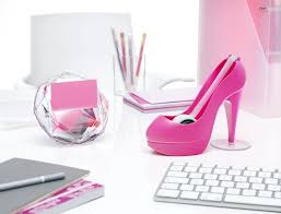 girly office supplies. Girly Office. Perfect Pink Office Decor For The Fashionista. Love Hot High Heeled Shoe Tape Dispenser! Supplies O
