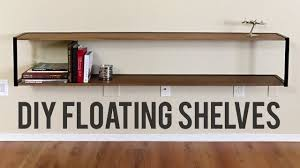 diy modern floating bookshelf woodworking and welding
