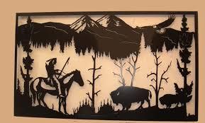s l enterprises western wall art pertaining to western metal wall art silhouettes
