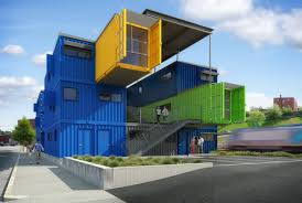 cargo container office. This Colorful Office Building Is Being Erected In Providence, RI, And Will One Day House Several Small Businesses Artist Studios. Cargo Container