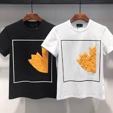 Cheap Mens Designer Shirts 19ss Mens Designer T Shirts Sleeve Round Collar Loosen Designer Polo Shirts Men White Black Slim Designer Shirt T Shirts Shopping Online T Shirts