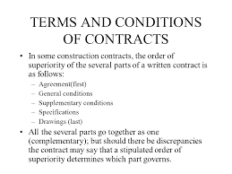 Landscaping Contracts Landscape Contract Terms And Conditions Terms