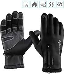 <b>ROCKBROS</b> Cycling Winter Gloves Windproof Fleece Thermal Full ...