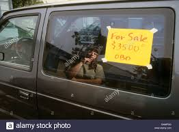 Auto For Sell Woman Reflect Window Car Sale For Sign Post Price Examine Buy Sell
