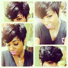 Short Weave Hair Style Full Short Weave By Tanya Shannon Sewin Pinterest Short 3663 by wearticles.com