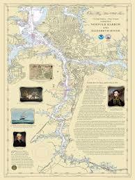 War Of 1812 Chart Historical Nautical Chart 1812norfolkchart Norfolk War Of 1812