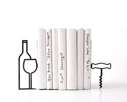 Bookends For Kitchen Decor Metal Kitchen bookends Less whine more wine modern home 1