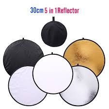 30cm 5 in 1 round photography reflector collapsible photo studio photo reflecotor photographic lighting reflector drop ship with 24 99 piece on