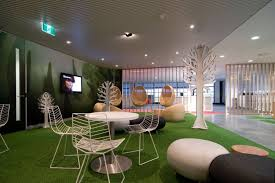 office lounge design. Modern Office Lounge Design With Nature-Inspired Furniture