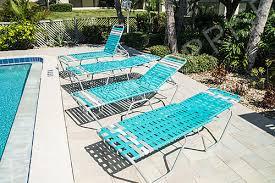 vinyl strap chaise lounge pool lounge