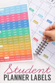 Free Student Planner Stickers