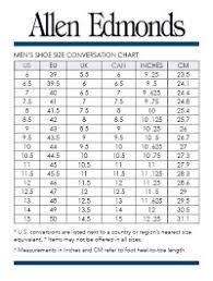 Allen Edmonds Width Size Chart Allen Edmonds Width Chart Allen Edmonds Appreciation Thread