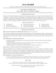 Construction Superintendent Resume Examples Nmdnconference Com