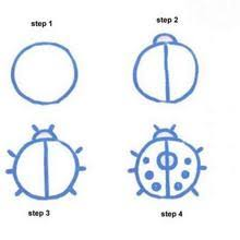 easy animals to draw step by step. Unique Step MOUSE How To Draw A Ladybug To Easy Animals Draw Step By R