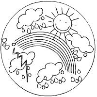 Regenboog Piraten Kleurplaat Wetter Mandalas Im Kidsweb De