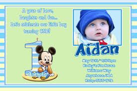 2 impressive mickey mouse 1st birthday invitations 2 eysachsephoto