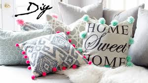 pom pom pillow. Brilliant Pillow DIY POM PILLOWS  UPCYCLE PILLOW FOR 1  And Pom Pillow V
