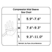 Copper Compression Wrist Sleeve Glove Support Hand Palm