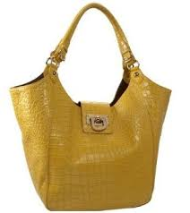 DKNY CROC EMBOSSED MEDIUM SLOUCHY TOTE