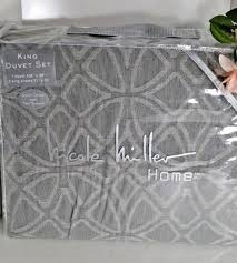 nicole miller king duvet set 100