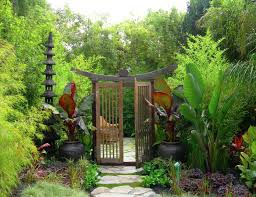 Japanese gardens are crafted on the ideal of reaching Zen. In this stream  of thought, flashy and bright colors are to be avoided. Image Source:  Zeterre