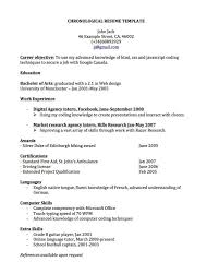 What Is Chronological Resume Classy Resume Examples Resumes Use Our Resume Templates And Chronological