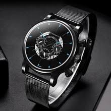 2020 часы Мужская Мода Бизнес часы Простой <b>Нержавеющая</b> ...