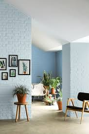 Brick walls painted a pale blue - fresh take on interior color. | Color  Coded | Pinterest | Interior colors, Bricks and Interiors