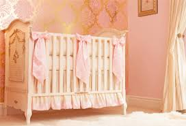 pink silk crib bedding zoom
