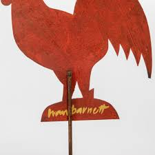 Sold Price: IVAN BARNETT (20TH CENTURY) CHICKENS, PAINTED METAL ON WOOD, -  September 3, 0120 10:00 AM EDT