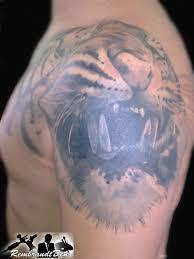 тату головы тигра плечо надплечье грудь лопатка альбом