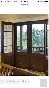 double front door with screen double