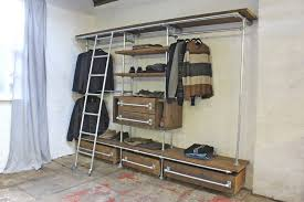 reclaimed board and pipe industrial shelving