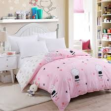 cute pink white rabbit duvet cover 1 pc aloe cotton bedding quilt comforter cover 150