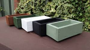 flower box planters many sizes colours wooden garden plant boxes