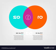Infographic Venn Diagram Venn Diagram Infographics For Two Circle Design Vector