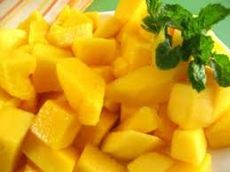 Image result for pictures of mango cut pieces