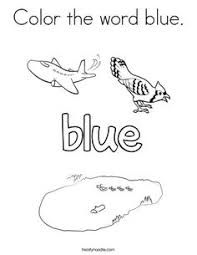 Small Picture I see the color blue Coloring Page Twisty Noodle Color