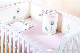 bird bedding sets embroidery bird flowers tree baby bedding set pink cotton crib bedding set quilt pillow bird bedding set queen