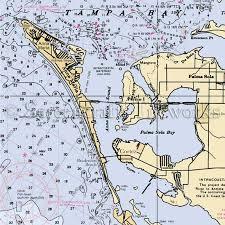 Sarasota Bay Nautical Chart Florida Anna Maria Island Nautical Chart Decor
