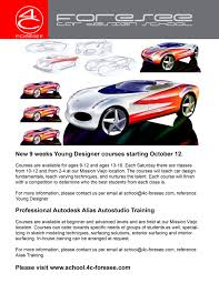 Car Design Classes Car Design Classes In Mission Viejo For Kids Aged 9 12 And