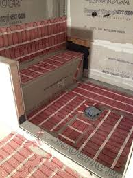 Heated Bathroom Floor Extraordinary Electric Bathroom Floor Heating Bathroom Underfloor Electric