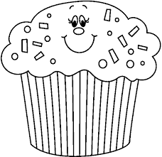 cupcakes drawing black and white. Perfect Drawing Birthday Cupcake Clip Art Black And White Throughout Cupcakes Drawing Black And White
