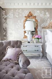 french bedrooms images. gray and gold french bedroom features a wall clad in metallic wallpaper lined with bedrooms images g