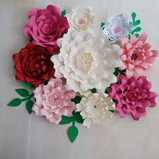 Paper Flower Video 2019 2018 Diy Giant Paper Flowers Full Kits With Video Tutorials Wedding Backdrop Baby Nursery Bridal Baby Shower Mix Colors Styles From